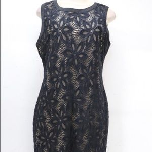 R&M Richards sz 12 Black lace dress